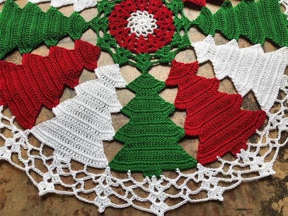 Decoração de natal em crochê