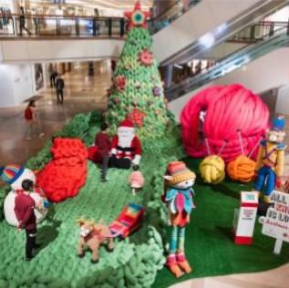 decoracao de natal com artes em trico