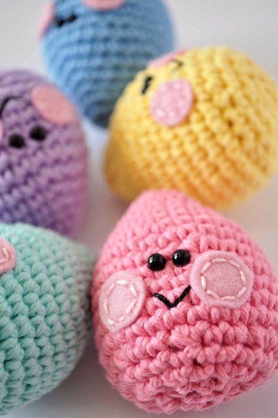 Ovos de páscoa em crochê