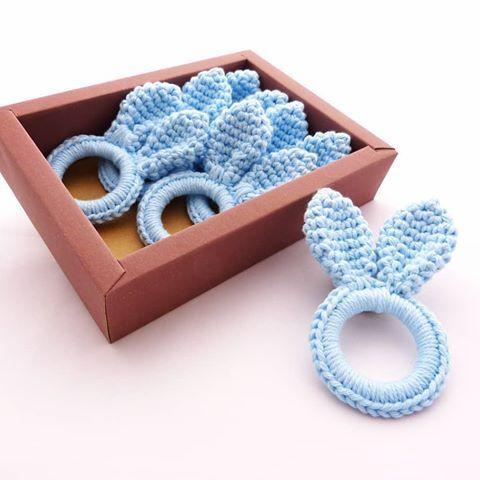 Porta guardanapos de páscoa em crochê