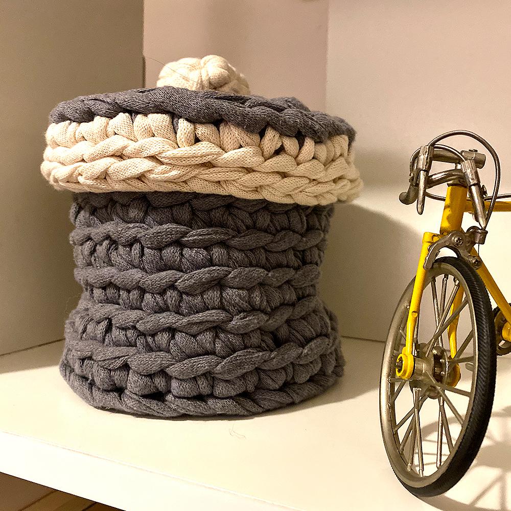 cesta de crochê