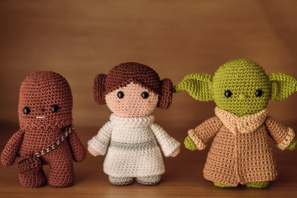 Bonecos de Star Wars em crochê