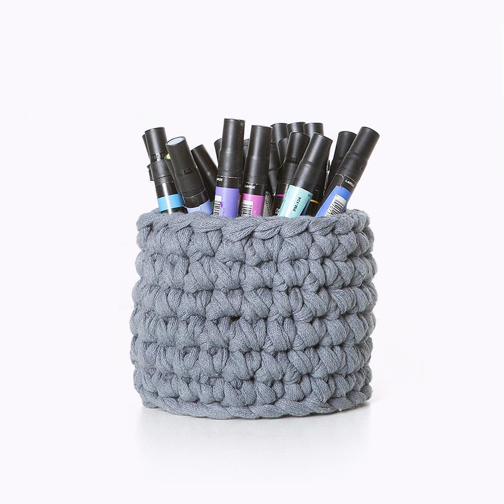 Porta canetas cinza