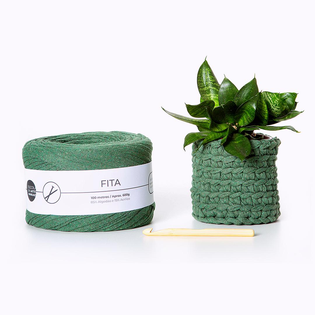 Vaso de planta com a linha verde