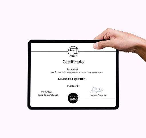 Certificado Almofada querer