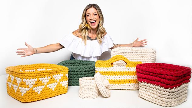 curso de cestaria em croche