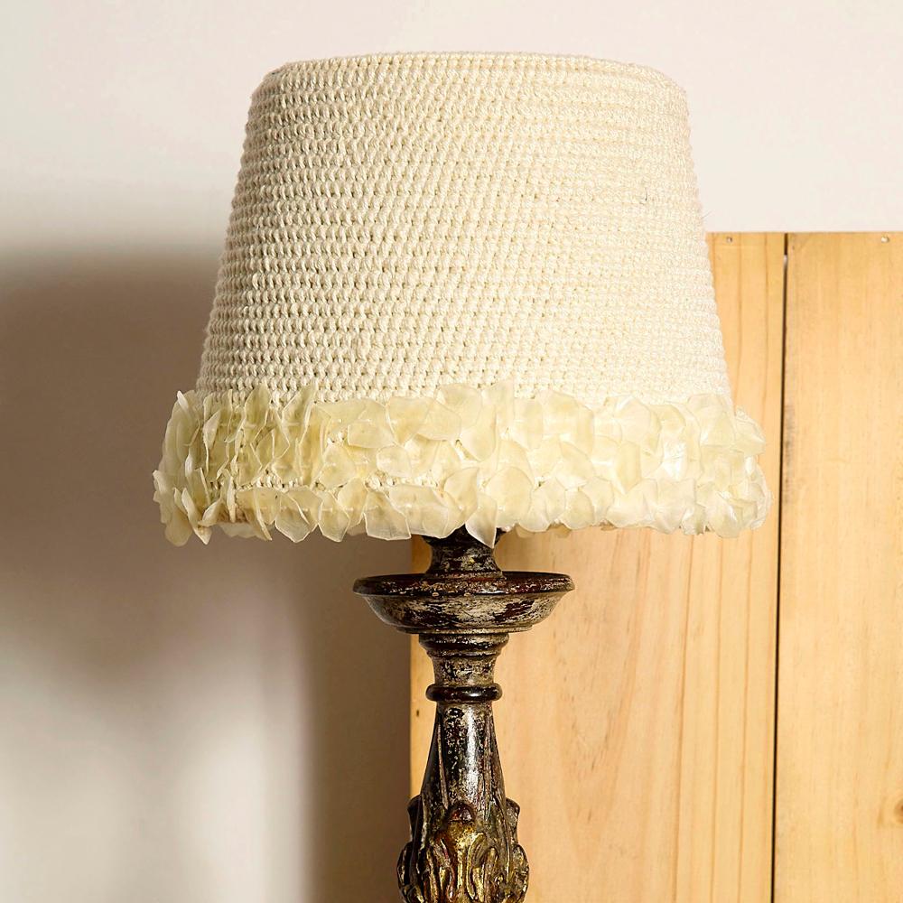 design em croche abaju branco anne galante escola de artes manuais