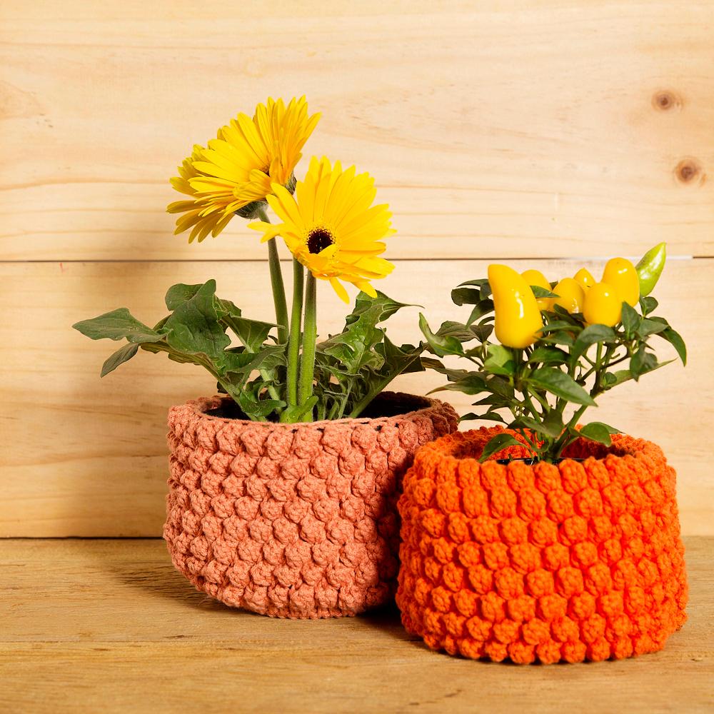 design em croche cesta plantas anne galante escola de artes manuais