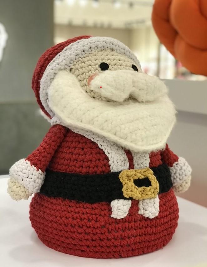 Papai Noel todo em crochê com Anne Galante