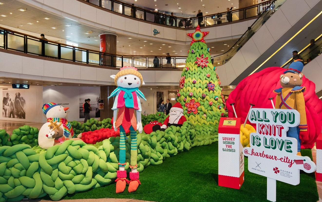decoração de Natal toda feita em tricô e crochê artesanal